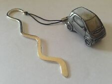Smart Car FULL CAR on a CURVED bookmark with cord ref240