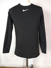 Small Mens Nike Pro Dri Fit Black Long Sleeved Fitted Athletic Shirt