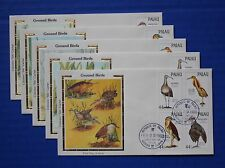 "Palau (187-190) 1988 Ground-dwelling Birds Colorano ""Silk"" FDCs"