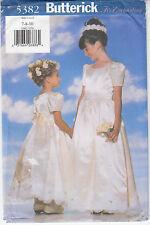 Wedding Flower Girl Fancy Dress Butterick 5382 Petticoat Evening Length Sz 7-10