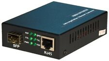 Ethernet Media Converter: SFP slot (port) to 10/100/1000 RJ45