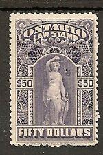 CANADA ONTARIO LAW REVENUE 1903 $50 PURPLE MNH