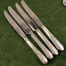 4 Vintage Mismatched Assorted Art DECO Dinner Knives Vintage Silverplate Lot C