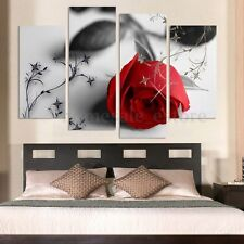 Large Red Rose Modern Canvas Print Painting Picture Home Wall Art Decor Unframe