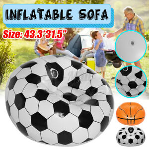 Inflatable Chair Lazy Sofa Blow Up Seat Pad Gaming Lounger Couch Outdoor