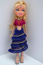 """2001 Bratz Doll 10"""" Tall Blonde Hair. Skirt, blouse, high heels, red blue gold"""