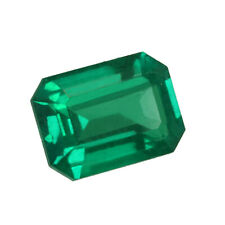 0.89 ct Zambia Natural Emerald Cut Loose Green Gemstone  724