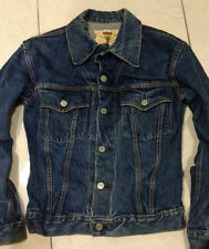 Vintage CANTON X WEST BIG E type 3 selvedge denim trucker jacket size M fits S