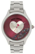 Betsey Johnson BJ00646-03 Floating Stones Silver Dial Stainless Women's Watch