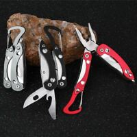 Portable Mini Stainless Steel Multi Tool Plier Pocket Outdoor Chain EDC Knife