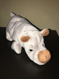 """TY Beanie Babies """"SPIKE"""" The Rhino, 1996"""