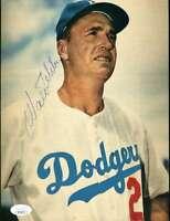 Walter Alston Jsa Coa Autograph 8x10 Vintage Photo  Hand Signed Authentic