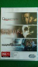Deception, Shutter, The Happening (DVD, 3 Discs) Hugh Jackman, Mark Wahlberg