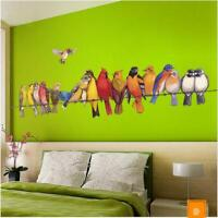 Wall Sticker Birds Parrot Lobby Living Room Bedroom Decal Mural Home Decor new