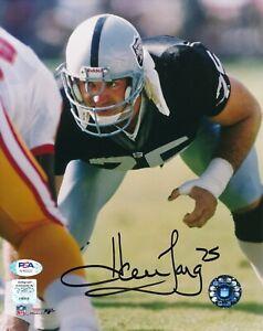 Howie Long Oakland LA Raiders HOF 2000 Autographed Signed 8x10 Photo ~ PSA/DNA