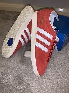 Adidas OG Gazelle Vintage Scarlet Red CW UK 9.5 Eu 44 New Deadstock Retro Indoor