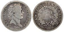 1811 Napoleon I demi franc Nantes T  silver coin of France