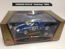 BURAGO 1/18 FERRARI 250 LM SEBRING Made In Italy anno 1965 Gold Collection