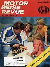 Motor Reise Revue 5 1978 Fiat 131 Mazda RX-5 BMW R 80/7 R100S Datsun 200 L 160 J