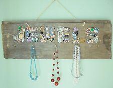 Vintage Jewelry Organizer/Holder Barn Wood Wall Hanging Handmade Repurposed OOAK