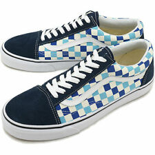 Vans Old Skool Men's Skate Shoes size 10 Blue Topaz Checkerboard