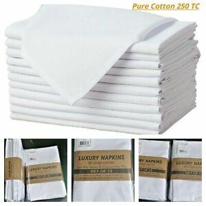 12 x Napkins Table Linen Dinner Cloth 100% Cotton Hotel Wedding Party Napkin