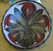Art Deco. TWO BOWLS FOR DECORATING YOUR HOME  -  POTTERY IN VIBRANT COLORS.