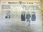 1933 hdln newspaper ARSONIST of THE REICHSTAG FIRE in Germany SENTENCED TO DEATH