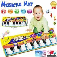 Boy Girls Kids Baby Musical Piano Play Mat Development Educational Soft Toys