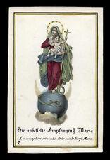 santino incisione1800 MARIA MADRE DI DIO dip. a mano