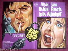 Cinema Poster: LOVE CAGE, THE 1966 (Quad) Alain Delon Jane Fonda Lola Albright