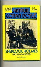 Arthur Conan Doyle# SHERLOCK HOLMES - UNO STUDIO IN ROSSO#Garden Editoriale 1989