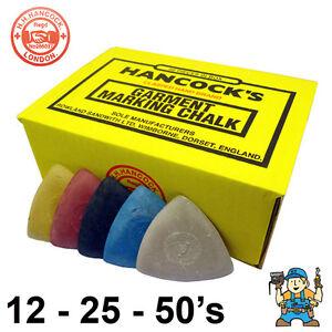 Hancocks Tailors Garment / Fabric Marking Chalk - Assorted - 12, 25, 50 Packs