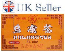 Té Oolong Wu largo Mariposa Adelgazante Dieta Detox Wuyi Fujian China 100 Teabags