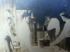 ANTIQUE EARLY ATLANTIC CITY POSTER BROADSIDE VACATION BEER STOVE YOUNG MEN PHOTO