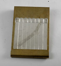 """Rare Vintage Brass """"Money To Burn"""" Book Of Matches Money Clip NOS Unfinished"""