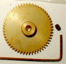 47 Tooth Gold Spur Gear 48 Pitch with wrench Weldum Alum Nos Slot Car 1/24 1/32