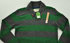 MENS URBAN PIPELINE SWEATER SIZE LARGE GREEN/GRAY LARGE COLLAR  MSRP $70