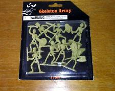 Mini Skeleton Army Set 8 Figurines Miniature Plastic Halloween Cake Decorate D&D