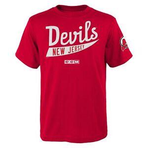 CCM NHL Youth (8-20) New Jersey Devils Classic Stripe Short Sleeve T-Shirt