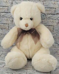 "PRINCESS SOFT TOYS Teddy Bear Vintage 11"" 2000 PLUSH Stuffed Animal w/ Bow + Tag"