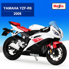New Miniature Bike Model 1:18 Scale 2008 YAMAHA YZF-R6 Diecast Motorcycle Toys