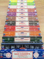 Satya Genuine SATYA SAI BABA - NAG CHAMPA VARIETY MIX 12 X 15G BOXES OF INCENSE,