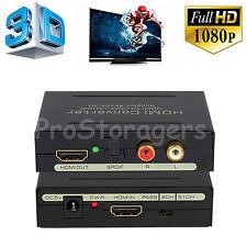 2K 4K HDMI to HDMI Audio Extractor SPDFI+L/R 3D Converter Splitter 1080P 2160P
