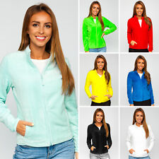 Fleecejacke Sweatshirt Pullover Pulli Übergangs Classic Damen BOLF Unifarben