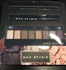 Max Studio Eye Designer Set Essentials 8 Eyeshadows Mascara & Eyeliner New