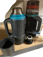 Thermos STEEL VACUUM INSULATED 1 Qt/1 Lt Bottle. Tough And *NEW* Vintage
