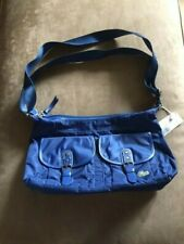 New LACOSTE Blue Medium Hobo Bag