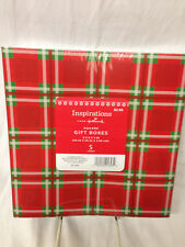 HALLMARK INSPIRATIONS PACK OF 5 SQUARE ASSORTED GIFT BOXES CHRISTMAS SNOWFLAKES