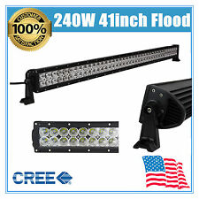 """41"""" inch 240W CREE FLOOD LAMP LED WORK LIGHT BAR OFFROAD DRIVING LAMP SUV FORD"""